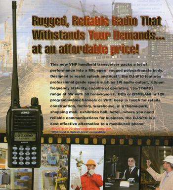 HT Alinco DJ-W10 VHF FM Handheld Transceiver
